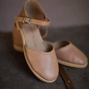 Leather Shoes (Sandals) / Wedges